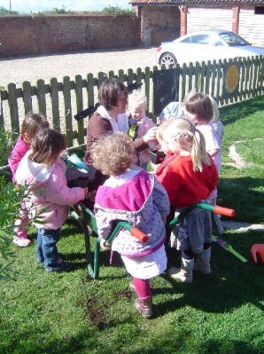 Gardening with Outdoor Learning Specialist Teacher