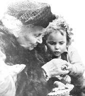 Dr. Montessori and Child
