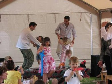 Ed Stoppard and Robert Staunton Dancing with children