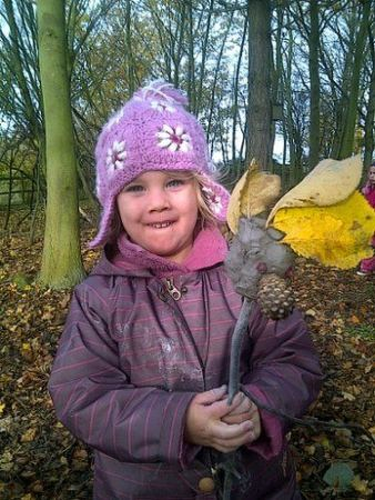 Art Project using natural materials at Forest School