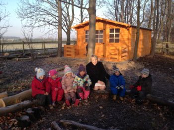 Alpine Log Cabin at Forest School