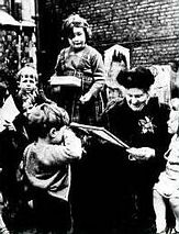 Dr Maria Montessori with children