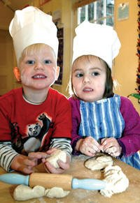 Nursery Children enjoying cookery at Staunton Montessori School