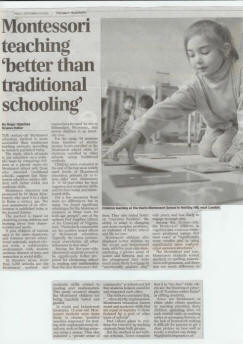 Montessori Method – Daily Telegraph