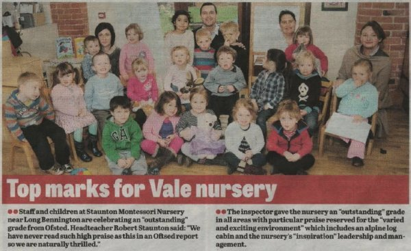 Staunton Montessori - Grantham Journal March 2013